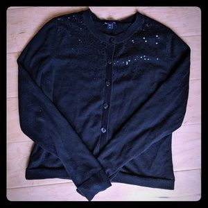 Gap Sequin Black Cardigan